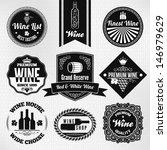 wine set | Shutterstock .eps vector #146979629