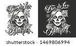 dia de los muertos vintage... | Shutterstock .eps vector #1469806994
