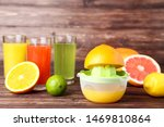 Fruits With Juicer And Citrus...