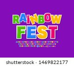 vector colorful poster rainbow... | Shutterstock .eps vector #1469822177