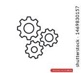 gear icon vector template  flat ... | Shutterstock .eps vector #1469830157