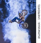 Постер, плакат: unidentified rider giving FMX