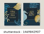 set of wedding cards ... | Shutterstock .eps vector #1469842907