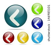 left arrow sphere button   icon