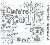 sports trophy winner  we re... | Shutterstock .eps vector #146985671