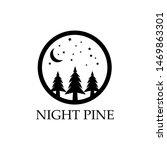 night pine trees logo. three... | Shutterstock .eps vector #1469863301