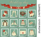 set of wedding icons | Shutterstock .eps vector #146986691
