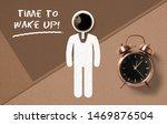 classical copper colored alarm... | Shutterstock . vector #1469876504