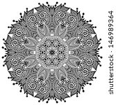 circle lace ornament  round... | Shutterstock .eps vector #146989364