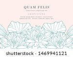 vintage card with lotus flowers.... | Shutterstock .eps vector #1469941121