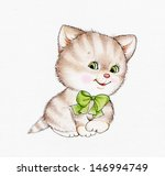 cute kitten | Shutterstock . vector #146994749