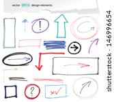 hand drawn design elements | Shutterstock .eps vector #146996654