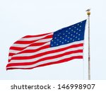 american flag flying in a light ... | Shutterstock . vector #146998907