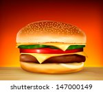 hamburger. vector. | Shutterstock .eps vector #147000149