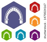 stone arch icons colorful... | Shutterstock . vector #1470024167