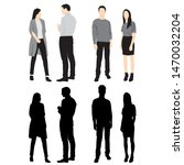 silhouettes of men and women... | Shutterstock .eps vector #1470032204