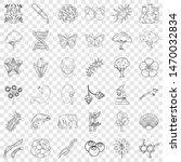 wildlife icons set. outline...   Shutterstock . vector #1470032834