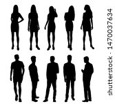 vector silhouettes of  men and... | Shutterstock .eps vector #1470037634