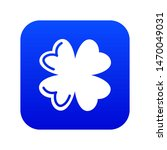 Quatrefoil Leaf Icon Blue...