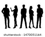 vector silhouettes of  men and... | Shutterstock .eps vector #1470051164