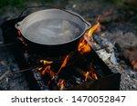 Bonfire Cast Iron Pot With Water