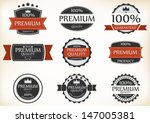 premium quality and guarantee... | Shutterstock . vector #147005381