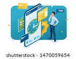 businessman engaged in time... | Shutterstock .eps vector #1470059654