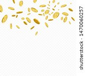 money rain background. golden... | Shutterstock .eps vector #1470060257