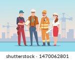 builders and engineers... | Shutterstock .eps vector #1470062801