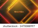 neon glowing light geometric...   Shutterstock .eps vector #1470088997