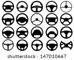 set of different steering wheels | Shutterstock .eps vector #147010667