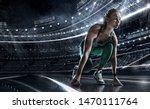 sports background. runner on... | Shutterstock . vector #1470111764