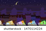 old apartment buildings in the... | Shutterstock .eps vector #1470114224