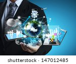 technology in the hands of... | Shutterstock . vector #147012485