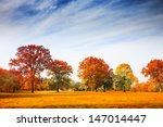 Colorful Autumn Trees Landscap...