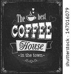 coffee label on chalkboard...   Shutterstock .eps vector #147016079