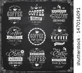 set of coffee labels on... | Shutterstock .eps vector #147016091