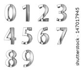 golden numbers isolated with... | Shutterstock . vector #147017945