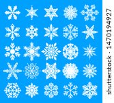winter white snowflakes card... | Shutterstock .eps vector #1470194927