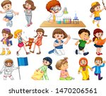 kids in large group acting our...   Shutterstock .eps vector #1470206561