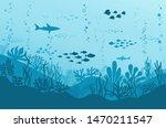 ocean underwater background... | Shutterstock .eps vector #1470211547
