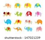 elephant vector set | Shutterstock .eps vector #147021239