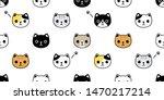 cat seamless pattern vector... | Shutterstock .eps vector #1470217214