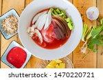 thai food  yentafo noodles ... | Shutterstock . vector #1470220721