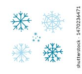 a set of blue snowflakes.... | Shutterstock .eps vector #1470236471