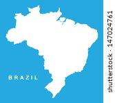 vector map brazil | Shutterstock .eps vector #147024761