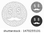 mesh rich dad smiley model with ... | Shutterstock .eps vector #1470255131