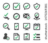 approve and true check icon set ... | Shutterstock .eps vector #1470269381
