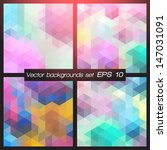 geometric patterns set.... | Shutterstock .eps vector #147031091