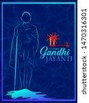 illustration of gandhi jayanti ... | Shutterstock .eps vector #1470316301
